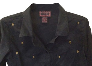 APRIL CORNELL Button Down Shirt BLACK