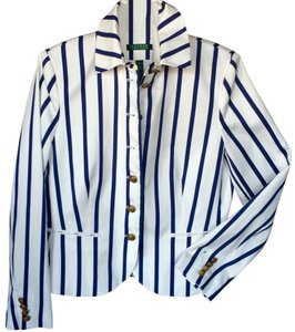 Lauren Ralph Lauren Navy/White Stripes Blazer