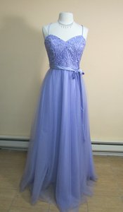 Mori Lee Violet Tulle with Embroidery and Beading 132 Modern Bridesmaid/Mob Dress Size 14 (L)