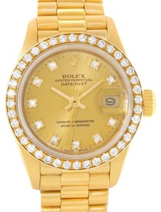 Rolex Rolex President Ladies 18k Yellow Gold Diamonds Watch 69138