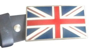 british belt buckle British flag