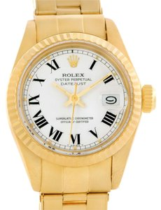 Rolex Rolex President Datejust Ladies 18k Yellow Gold White Dial Watch 6917