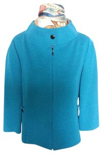 St. John Knit Suit Blue Suit Knit Teal Jacket