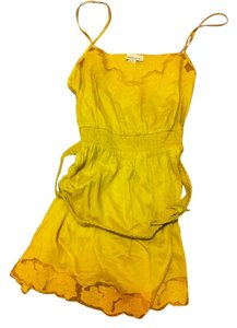 Forever 21 short dress Yellow Belted Lace Trim on Tradesy