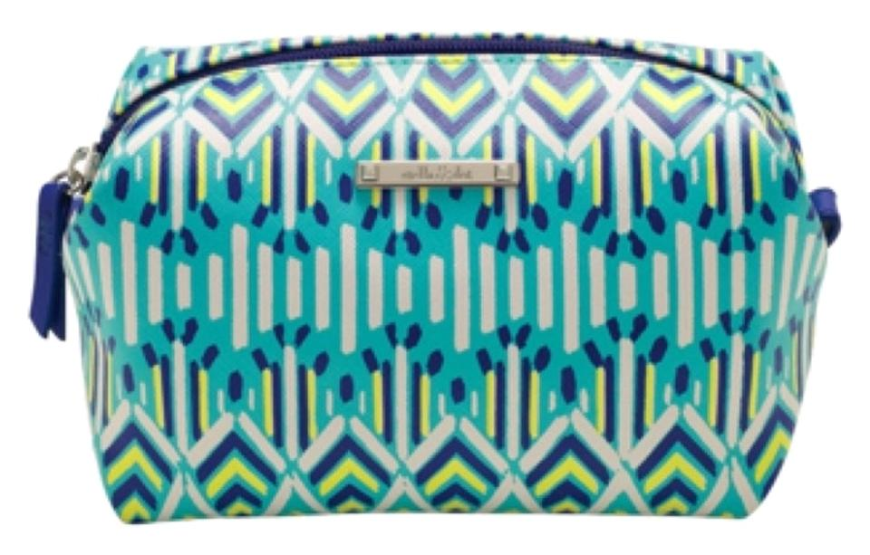 Stella Dot Pouf In Spring Green Ikat Cosmetic Bag Tradesy Custom Stella And Dot Pouf