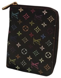 Louis Vuitton Louis Vuitton Zippy Coin Purse Multicolor Noir Black
