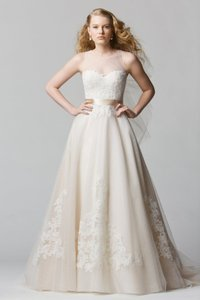 Wtoo Antique Oatmeal/Ivory Lace/Tulle Bellavista Modern Wedding Dress Size 18 (XL, Plus 0x)