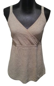 Eileen Fisher Tan Italian Top Khaki