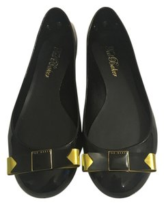 Ted Baker Black and Gold Flats