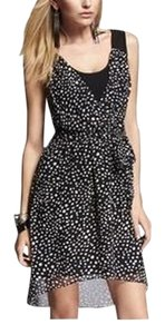 Express short dress Black/White Print Little Black Black Lbd Hi Lo Printed Black And White Knotted Back on Tradesy