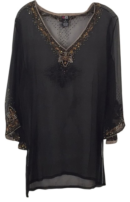 Item - Black Tunic Cover-up/Sarong Size 4 (S)