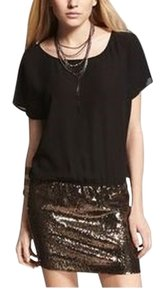 Express Little Black Lbd Sequin Sequin Formal Dress