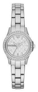 A|X Armani Exchange A/X Armani Exchange AX5219 Lady Hampton Silver Crystal Bezel Watch
