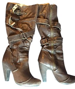 Seychelles Knee High Distressed Winter Leather BROWN Boots