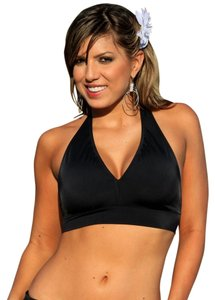 UjENA UjENA Manhattan Minimizer Full Busted Halter Top Size LL XL Black