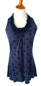Ella Moss Dots Top Navy