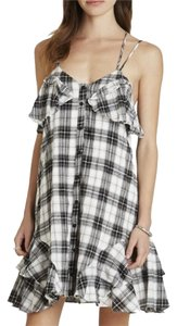 BCBGeneration short dress white Bcbg Summer Shirt Plaid Cotton on Tradesy