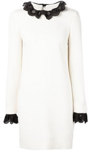 Victoria Beckham short dress Black Cream on Tradesy