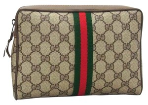 306cb6809ed Gucci Gucci Vintage Monogram Pattern Gg Cosmetic Clutch Pouch Purse  Pochette Made in Italy