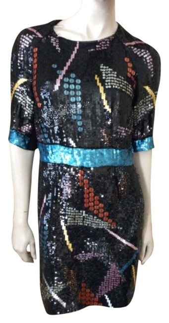 Item - Multicolor Hand Beaded Mid-length Night Out Dress Size 4 (S)