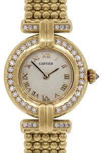 Cartier Cartier Rivoli 18k Yellow Gold Diamond Bezel Ladies Watch