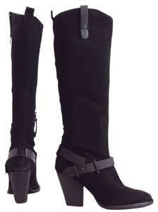 Dolce Vita Suede Knee High Riding Black Boots