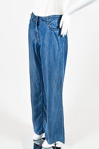 Prada Denim Zip Front Trouser/Wide Leg Jeans