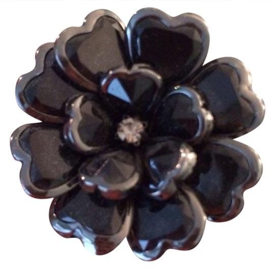 Francesca's Black Flower Ring