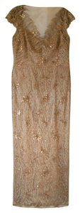 Kay Unger Evening Special Occassion Lace Sequin Dress