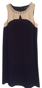 Kensie short dress Navy blue and cream on Tradesy