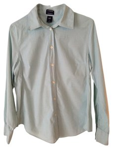 Gap Gap Maternity Blue Button Down Long Sleeve Shirt Size M