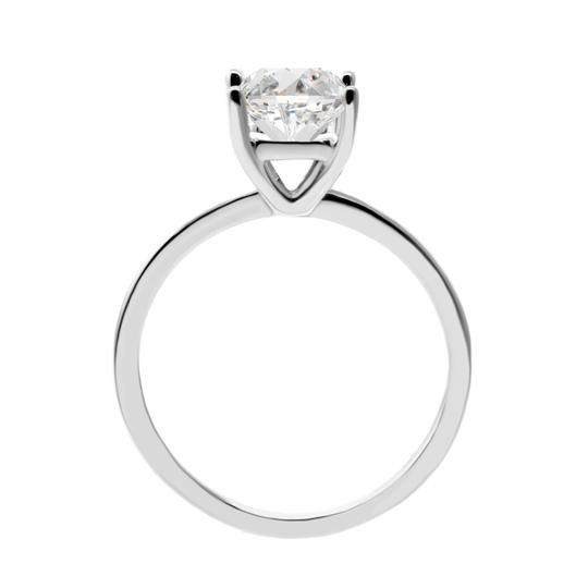 White 1.5 Cts Solitaire In 14k Gold Engagement Ring Image 1