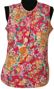 Chaps Top Pink/Orange multi print 1x