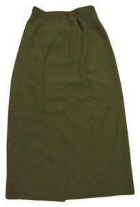 Carlisle Wool Business Attire Skirt Olive Green