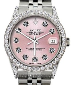 Rolex 36MM ROLEX DATEJUST 2.5CT DIAMOND WATCH