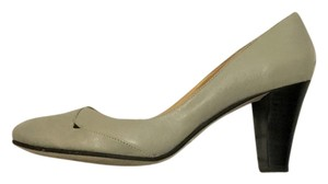 Biviel Cutout Detail Gray Pumps