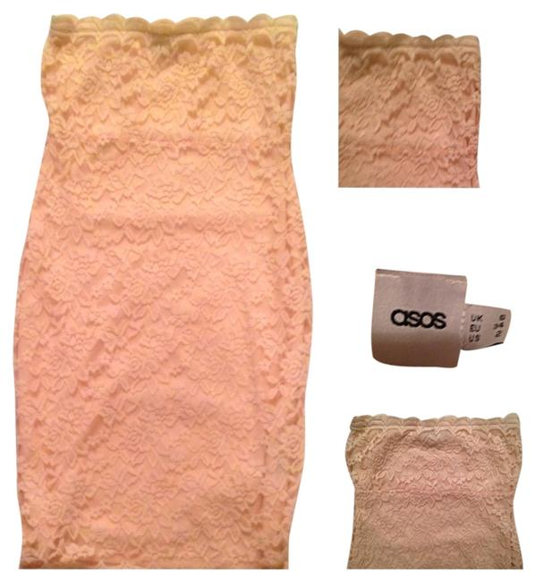 Item - Peach Lace Weekend Chic Above Knee Night Out Dress Size 2 (XS)