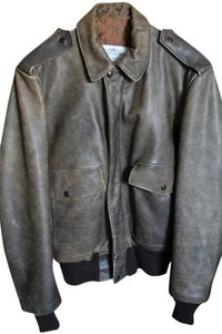 Schott NYC Vintage Flight Distressed Brown Leather Jacket