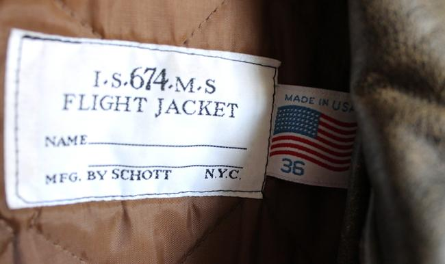 Schott NYC Vintage Distressed Flight Leather Bomber Distressed Brown Leather Jacket