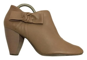 REPORT Leather Bow Ankle Bootie Gray Boots