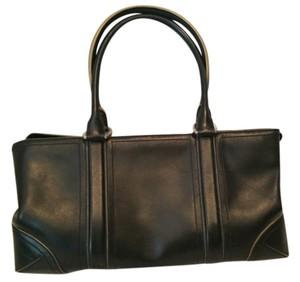 Ann Taylor Gently Used Leather Satchel in Black