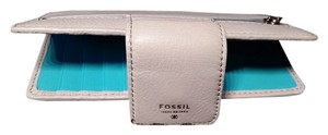 Fossil Grey light blue Clutch
