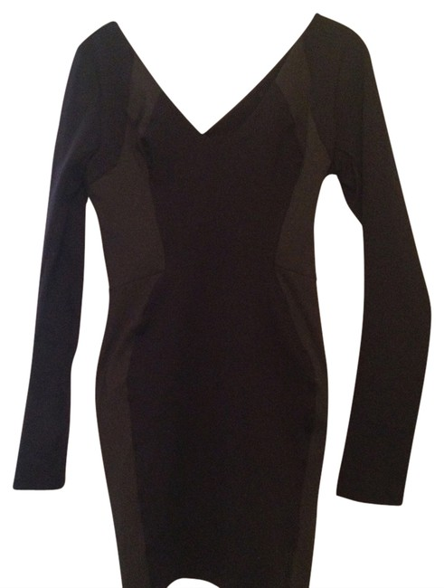 Preload https://item3.tradesy.com/images/black-and-gray-fitted-above-knee-night-out-dress-size-2-xs-1300452-0-0.jpg?width=400&height=650