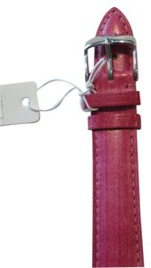 Michele Nwt Michele Authentic Rasberry Pink Leather 18MM Watch Band