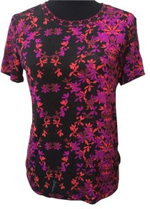 Just Cavalli T Shirt black,red,cyclamen