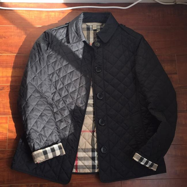 Item - Black with Checkered Detail Inside Coat Size 4 (S)