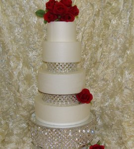 Cake Stand/ Wedding Cake Stand & Two Cake Separators