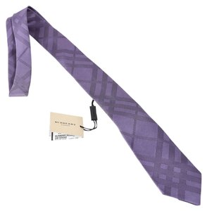 Burberry BURBERRY Check Silk Tie, Purple