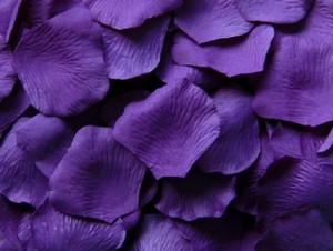 Purple 500x Silk Rose Petal More Color Available Centerpieces Table Tap Party Cake Aisle Runner