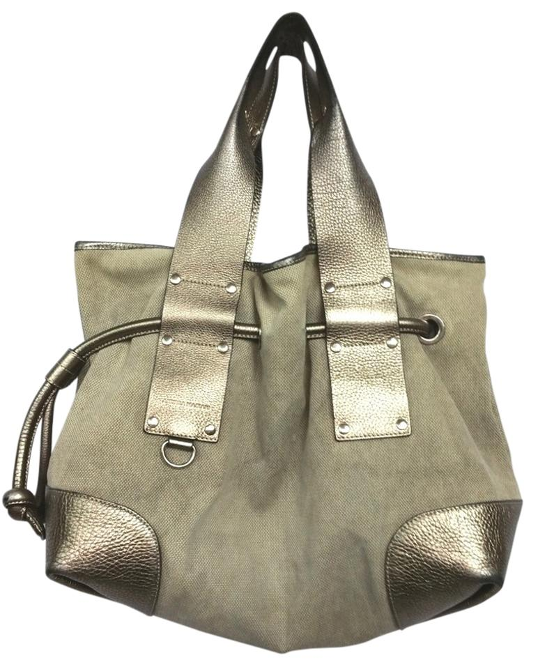 7c0065a13b471 Made In Italy Leather Trim Drawstring Woven Tote - Tradesy
